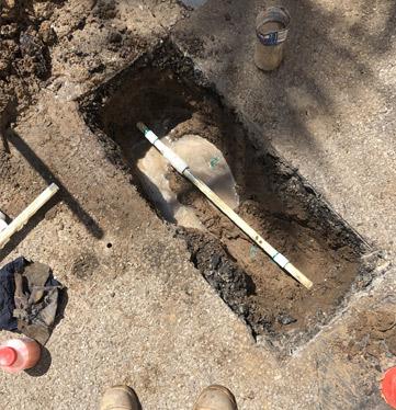 Underground burst pipe